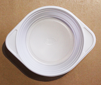 Тарелка одноразовая пластиковая суповая. упаковка 100 шт.