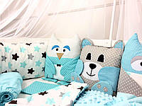 """Шикарный постельный комплект для мальчика """"Веселые зверята"""", фото 1"""