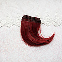 Волосы для кукол прямые боб в трессах, рубин - 10 см