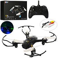 Квадрокоптерна радиоуправлении TY-T3, аккум, свет, USB зарядное, зап.лопасти