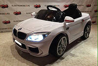 Детский электромобиль BMW КХ1337-2 Премиум, резина, кожа, ключ зажигания, дитячий електромобіль