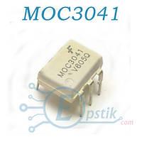 MOC3041, оптопара с симисторным выходом 400В, DIP6