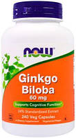 Ginkgo Biloba 60 мг NOW, 240 капсул