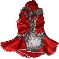 Костюм карнавальный детский Красная Шапочка 0717 атлас, р.р.104-134 см