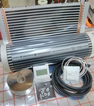 7м2 Пленочный теплый пол 7м.кв Sun-Floor (Korea) инфракрасная нагревательная пленка с регулятором и датчиком