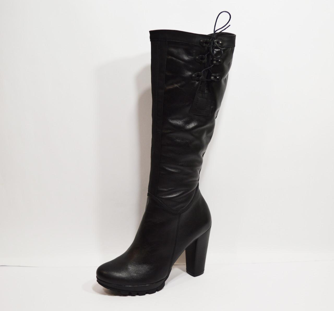 Зимние кожаные сапоги Marco 236