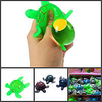 Черепаха лизун с вылезающим яйцом, игрушка прикол антистресс