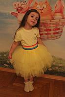 Желтая яркая фатиновая юбка ламбадка