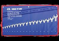Набор ключей рожково-накидных 18шт. 6-24мм чехол из теторона King Tony 1218MRN