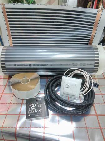 3м2 Теплый пол инфракрасный пленочный Hot-Film  (комплект с механическим терморегулятором и датчиком пола)
