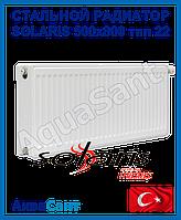 Стальной радиатор Solaris 500x800 тип 22 боковое подключение