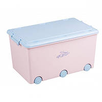 Ящик для игрушек с колесами Tega Rabbits KR-010 Польша (розовый/голубой), фото 1