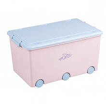 Ящик для игрушек с колесами Tega Rabbits KR-010 Польша (розовый/голубой)