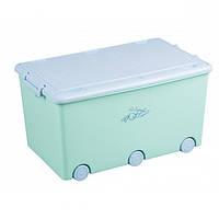 Ящик для игрушек с колесами Tega Rabbits KR-010 (бирюзовый/голубой), фото 1