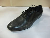 Туфли мужские кожаные комфорт Etor. Черные весна, лето, осень.