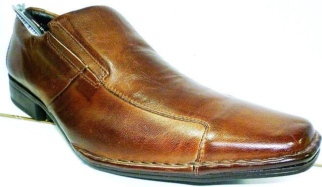 Туфли оксфорды мужские коричневые, кожаные Mariner на резинках