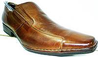 Туфли оксфорды мужские коричневые, кожаные Mariner на резинках, фото 1