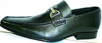 Кожаные туфли мужские лоферы черные Mariner классические, фото 1