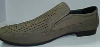 Летние мужские туфли лоферы бежевые Welfare, фото 1