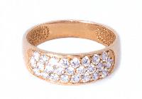 Кольцо золотое Шик в золоте 585 пробы с камнями цирконами