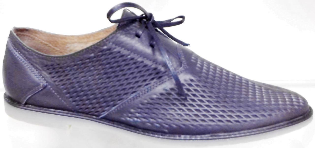 Туфли мужские летние кожаные Broni