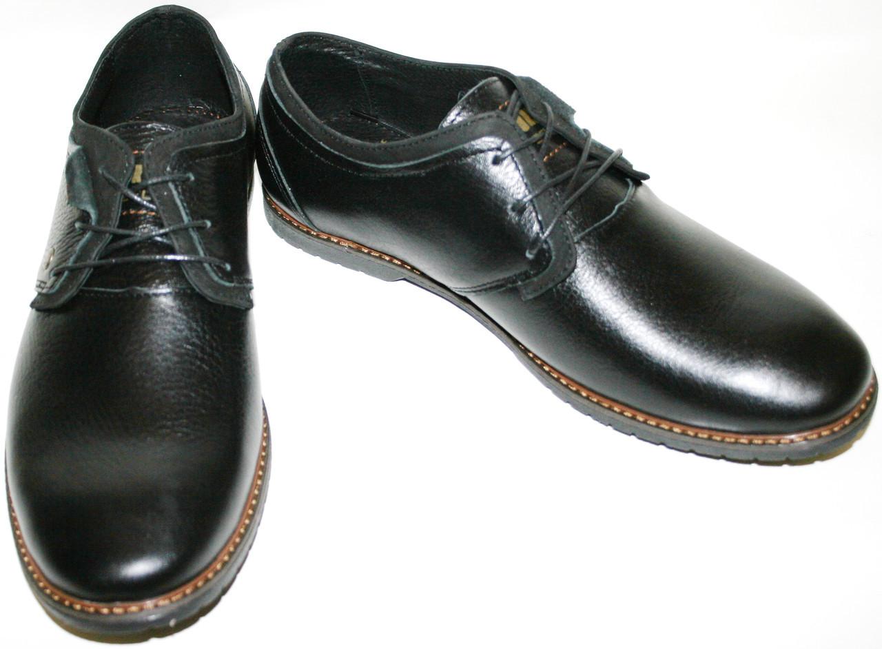 Кожаные туфли мужские демисезонные дерби Belvas