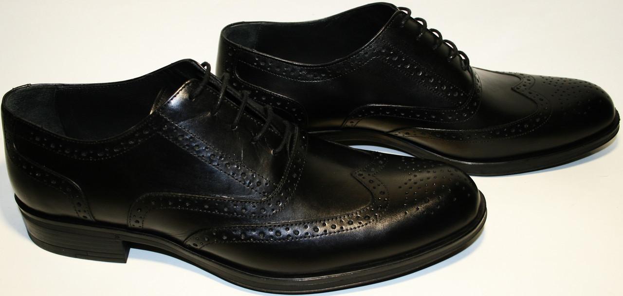 be13a58095fe Мужские классические туфли черные оксфорды, кожаные броги Luciano Bellini