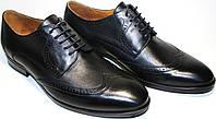 Туфли мужские классические, черная кожа дерби броги Икос, фото 1