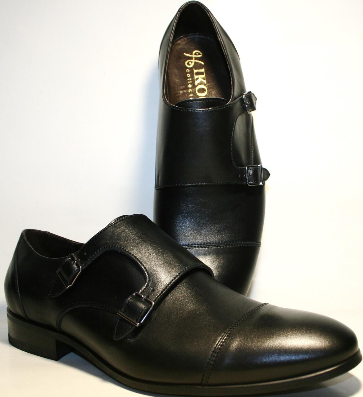 b5251d0f3cd5 Мужские туфли монки кожаные черные, демисезонные Икос классические -  Интернет-магазин