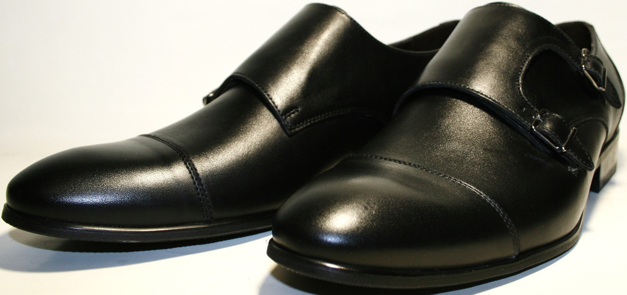 52b9e6f52fcc ... Мужские туфли монки кожаные черные, демисезонные Икос классические ,  фото 4 ...