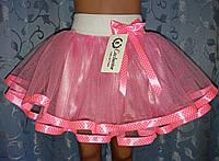 Детская юбка на резинке, нежно-розовая