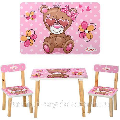 Детский комплект мебели мишка 501-9