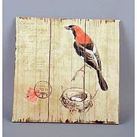 "Картина прованс ""Птичка"" (30*30 см) дерево"