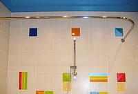 Карниз для прямоугольной ванны 140*70 г-образный Ф25 Комфорт