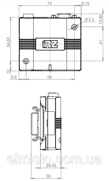 GSM/GPRS-модема MC52iT габариты