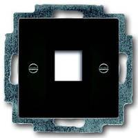 Центральная плата телефонной/компьютерной розетки ABB Basic 55 Чёрный шато (chateau black)