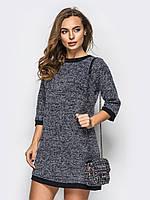 Модное платье из букле на шерстяной основе