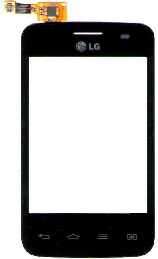 Сенсор LG E435 L3 Duos black, тач скрин для телефона смартфона