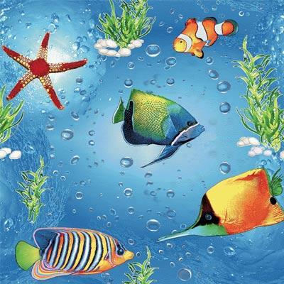 Детский коврик морское дно Море