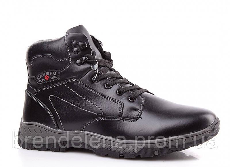 Мужские стильные кожаные зимние ботинки р (42)