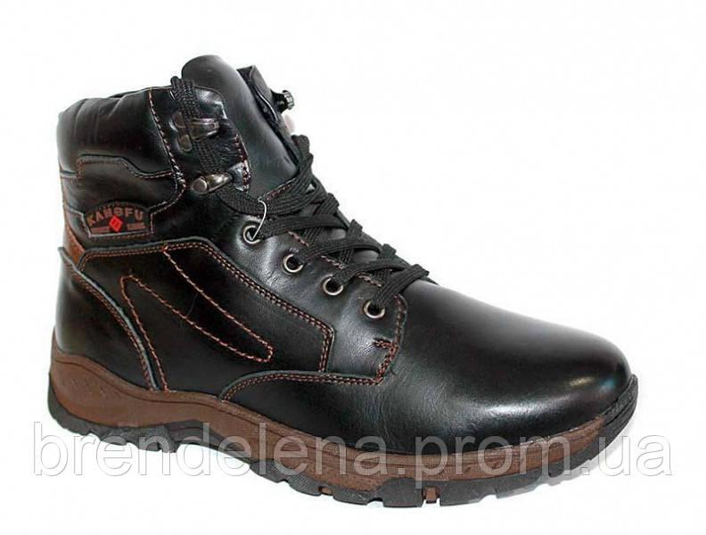 Мужские стильные кожаные зимние ботинки р(43)