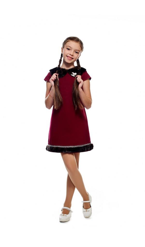 изображение теплое детское платье кашемир