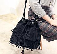 """Женская повседневная сумка """"Кантри Black"""", фото 1"""