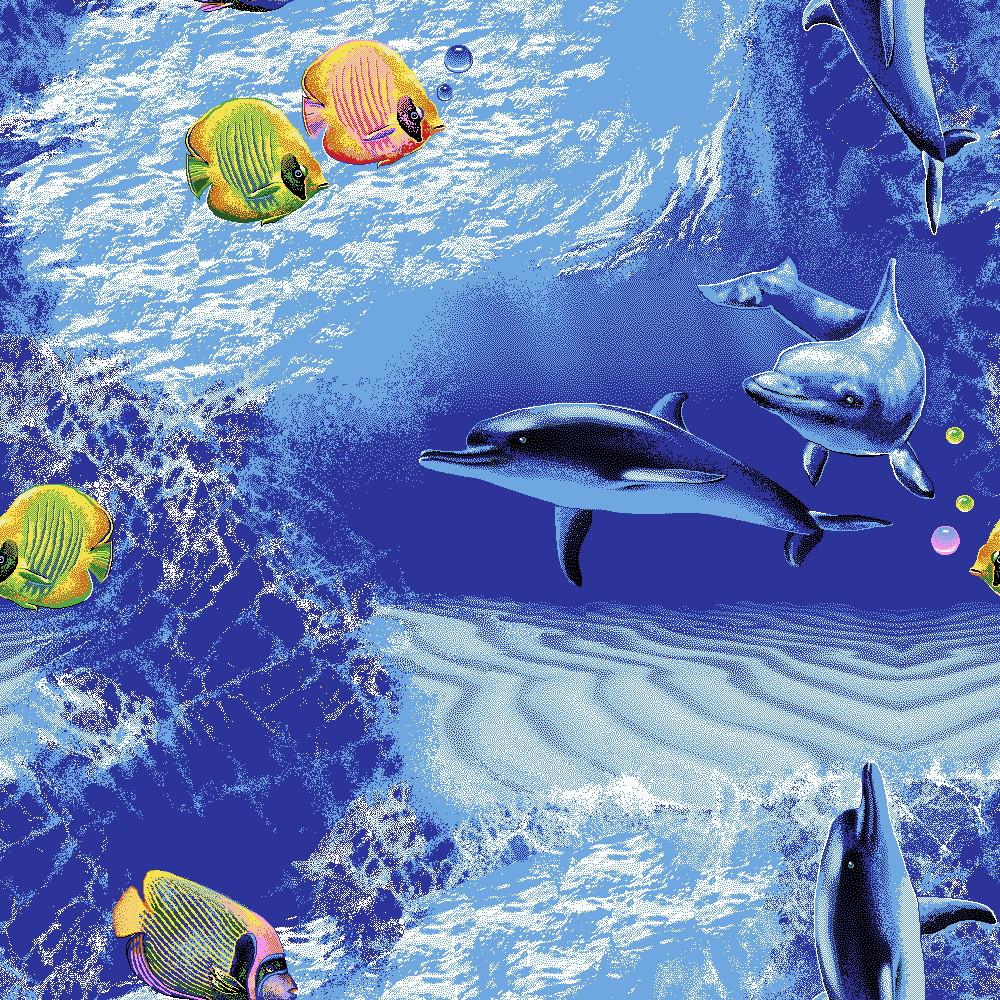 Коврик для детской комнаты на пол Океан