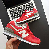 Кроссовки New Balance 574 Red/Gray женские