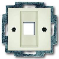 Центральная плата телефонной/компьютерной розетки ABB Basic 55 Белый шале (chalet white)