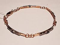 Золотой браслет с фианитами. Артикул 893098 18, фото 1