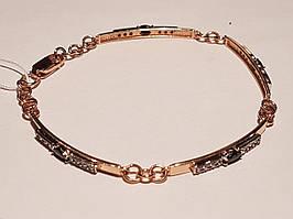 Золотий браслет з фіанітами. Артикул 893098 18