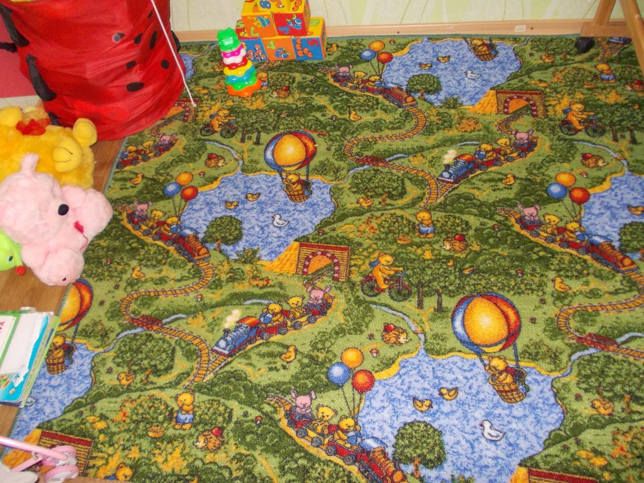 Детский коврик с животными Малиновка