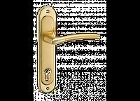 Дверная ручка на планке MVM A-1210-85 PB/SB (полированная латунь/матовая латунь)